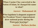 when cassius clay converted to the nation of islam he changed his name to what