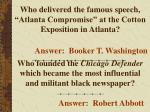 who delivered the famous speech atlanta compromise at the cotton exposition in atlanta