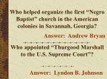 who helped organize the first negro baptist church in the american colonies in savannah georgia