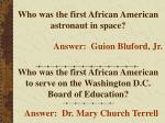 who was the first african american astronaut in space