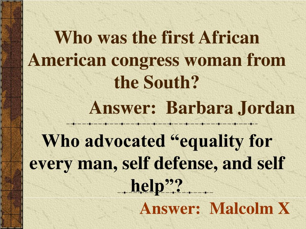 Who was the first African American congress woman from the South?