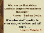 who was the first african american congress woman from the south