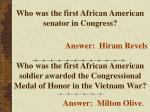 who was the first african american senator in congress