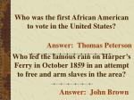 who was the first african american to vote in the united states