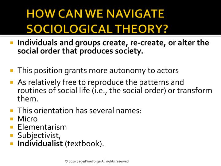 How can we navigate sociological theory1