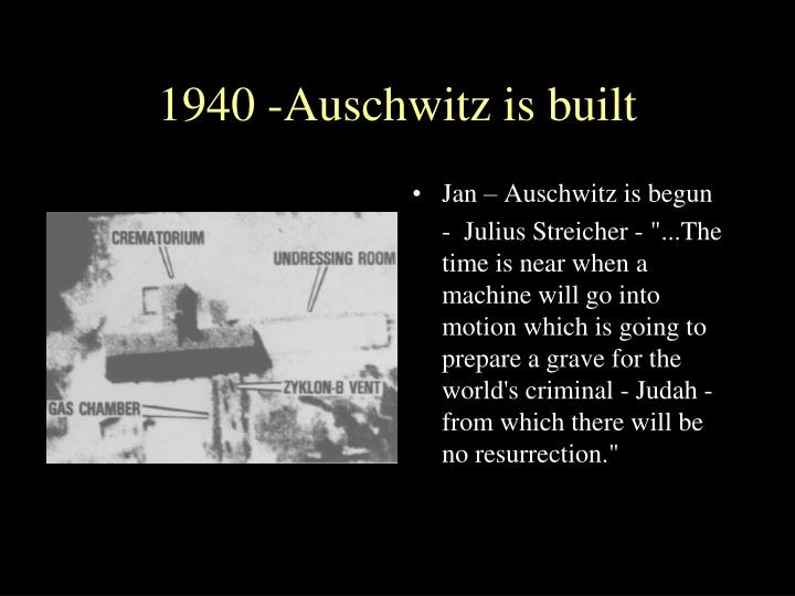 1940 -Auschwitz is built