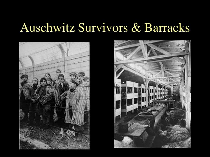 Auschwitz Survivors & Barracks