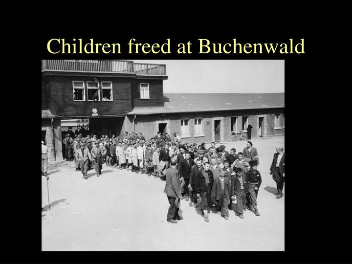 Children freed at Buchenwald