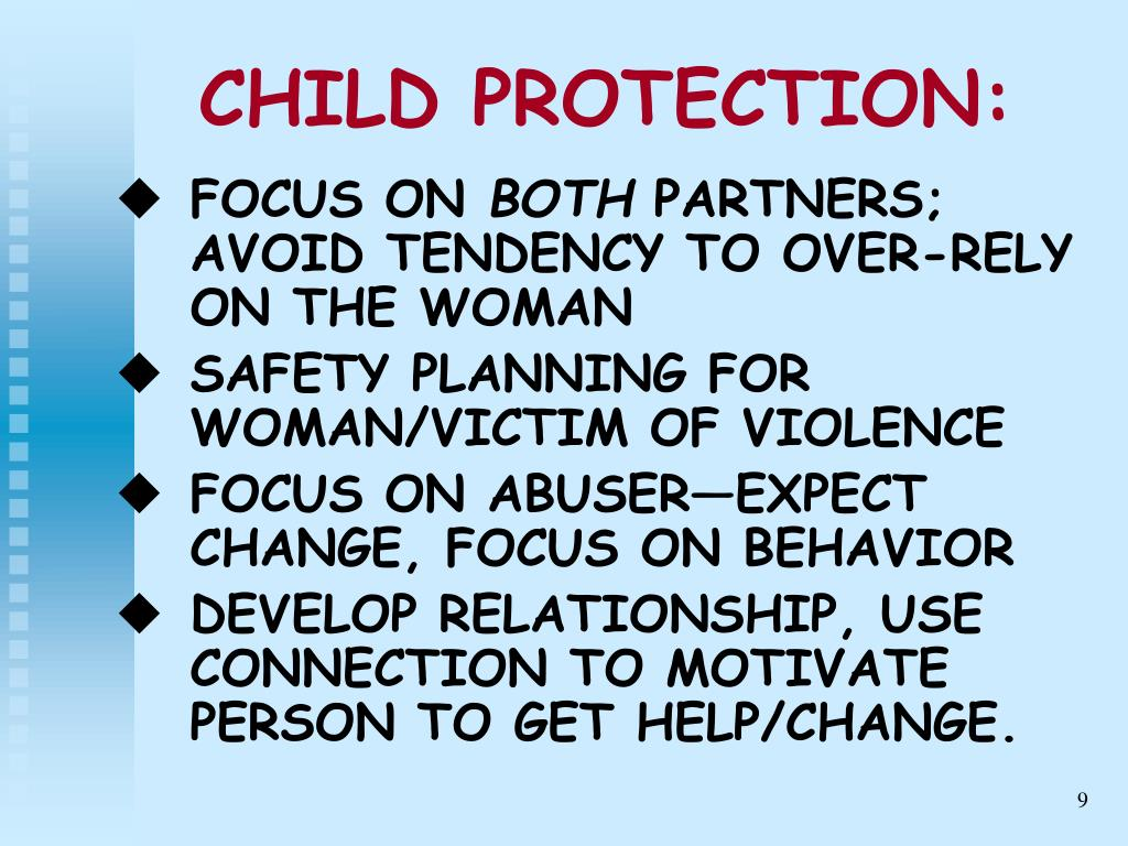 CHILD PROTECTION: