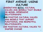 first avenue using culture17