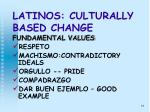 latinos culturally based change