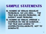 sample statements26
