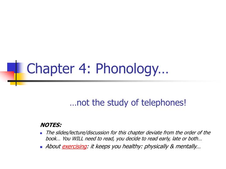 chapter 4 phonology