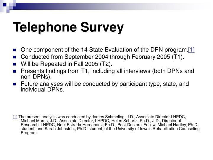 Telephone survey