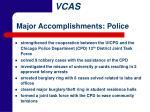 major accomplishments police