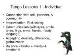 tango lessons 1 individual