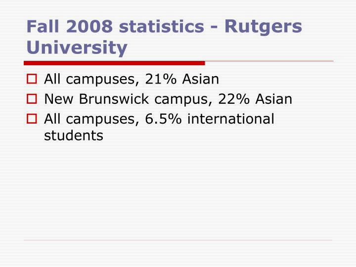 Fall 2008 statistics -
