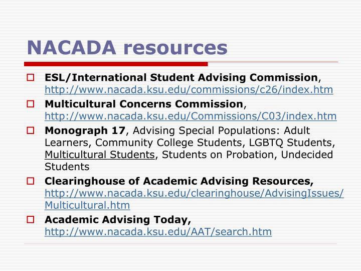 NACADA resources