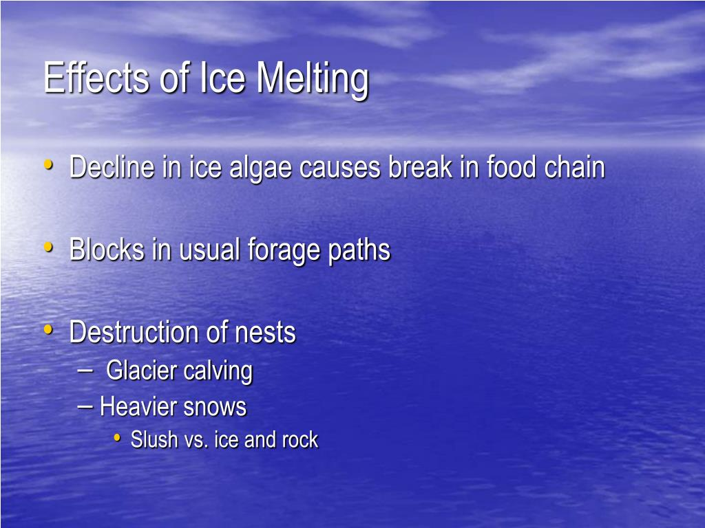Effects of Ice Melting