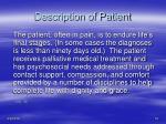 description of patient1