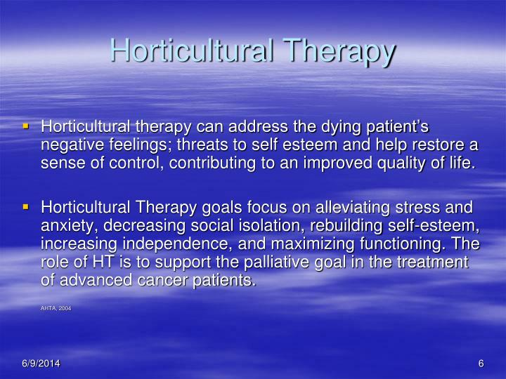 Horticultural Therapy