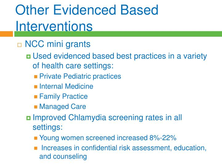 Other Evidenced Based Interventions