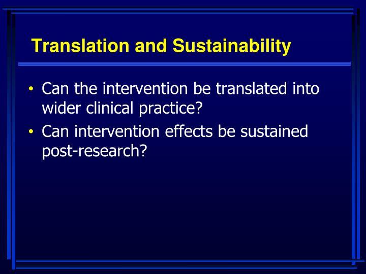 Translation and Sustainability