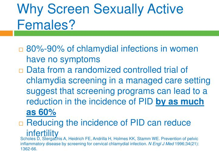 Why Screen Sexually Active Females?