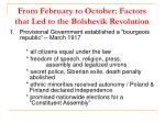 from february to october factors that led to the bolshevik revolution