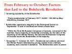 from february to october factors that led to the bolshevik revolution10