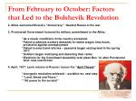 from february to october factors that led to the bolshevik revolution7