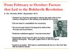 from february to october factors that led to the bolshevik revolution9