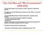 the civil war and war communism 1918 1921