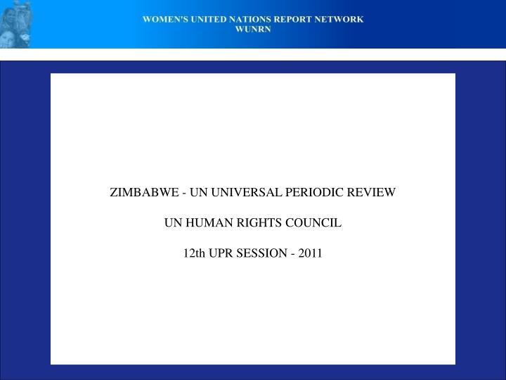 ZIMBABWE - UN UNIVERSAL PERIODIC REVIEW