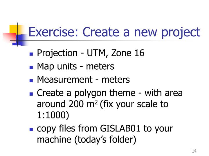 Exercise: Create a new project