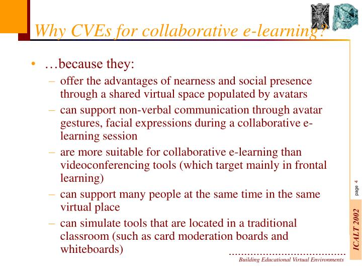 Collaborative Classroom Presentation ~ Ppt building educational virtual environments powerpoint