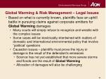 global warming risk management legal issues11