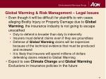 global warming risk management legal issues12