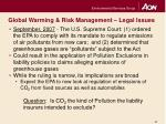 global warming risk management legal issues2