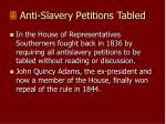 anti slavery petitions tabled