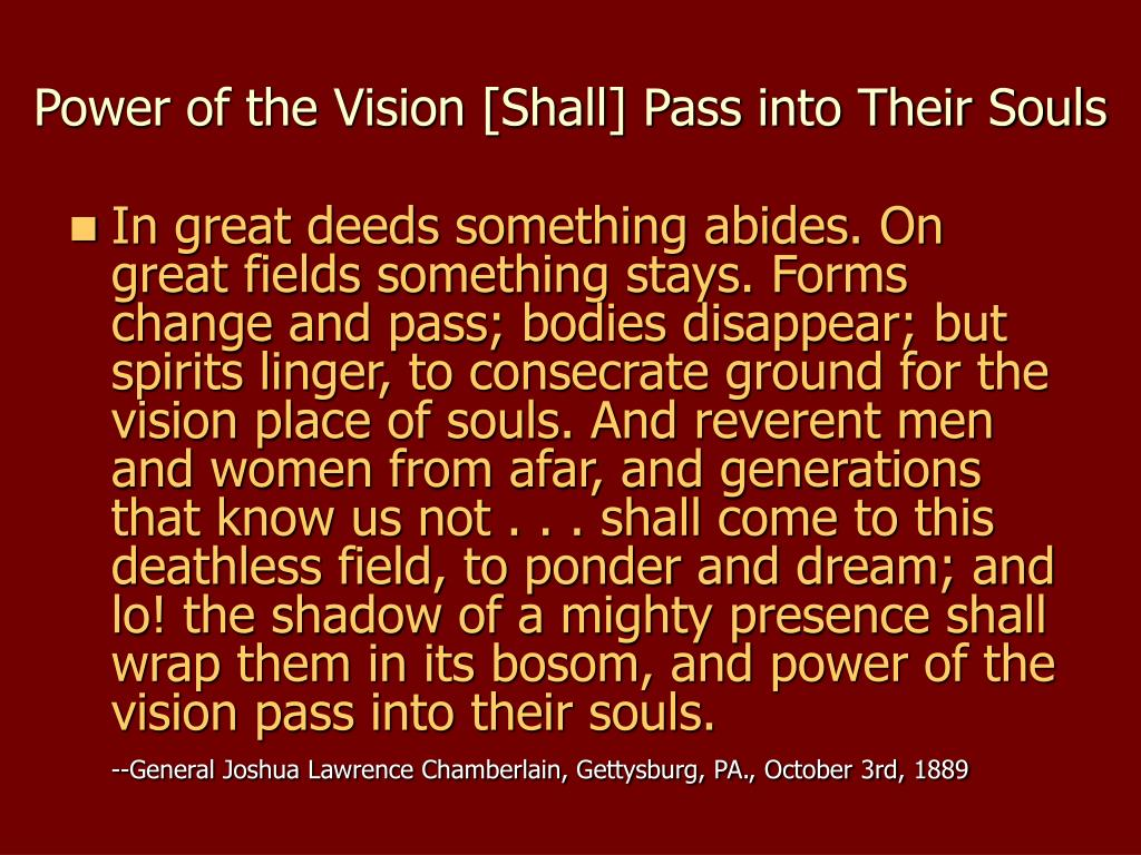 Power of the Vision [Shall] Pass into Their Souls