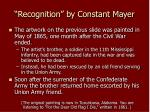 recognition by constant mayer