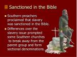sanctioned in the bible