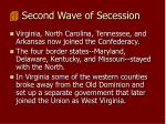 second wave of secession