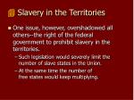 slavery in the territories