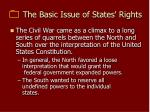 the basic issue of states rights
