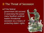 the threat of secession