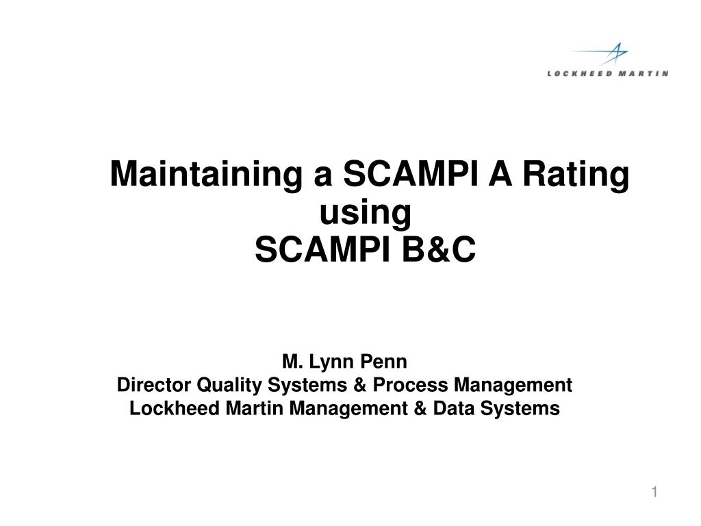 maintaining a scampi a rating using scampi b c l.