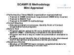 scampi b methodology mini appraisal
