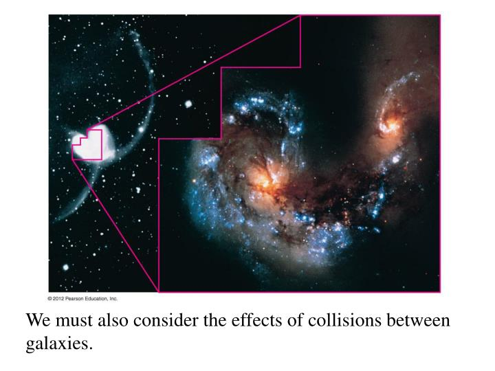 We must also consider the effects of collisions between galaxies.